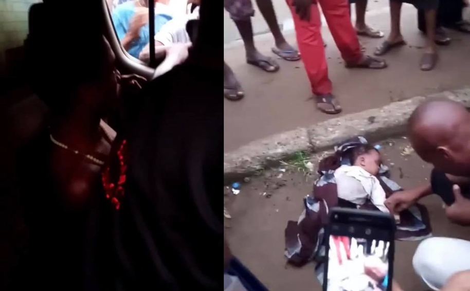 'Mad man' caught with dead baby in Aba (Video)