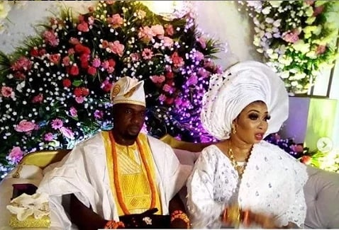 Photos from Nollywood actress, Lizzy Anjorin's wedding ceremony yesterday