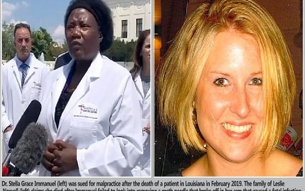 Dr Stella Immanuel was once sued for alleged malpractice after a patient's death