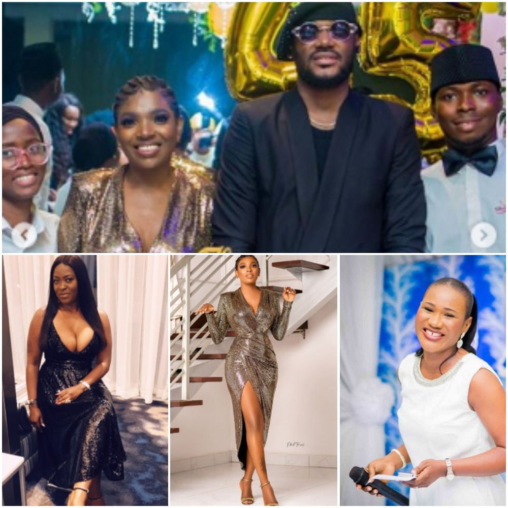 2face Idibia's wife and baby mamas unite, throw him an ultimate 45th birthday surprise with all his kids (photos, videos)