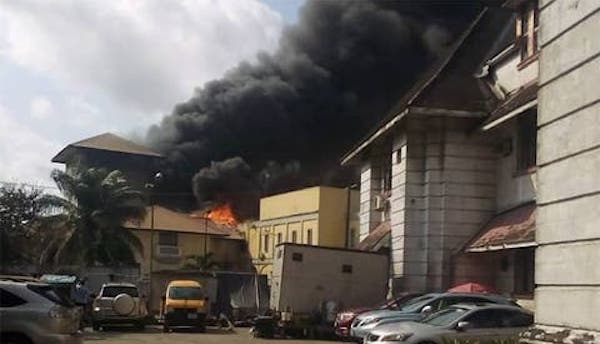 Lagos court sets on fire, items stolen