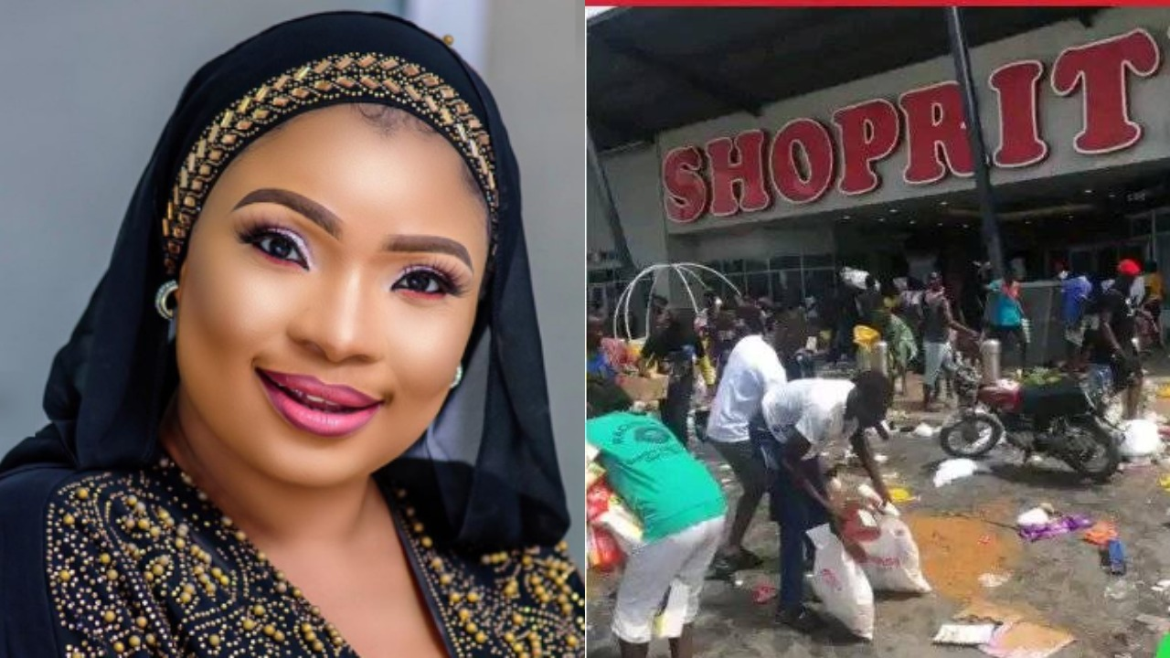Actress, Laide Bakare Reacts To Hoodlums Looting Malls