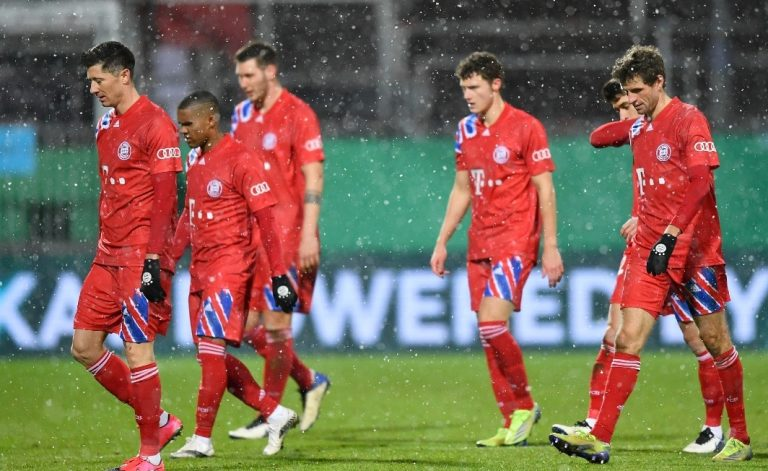 German Cup holders, Bayern knocked out by second-tier Holstein Kiel